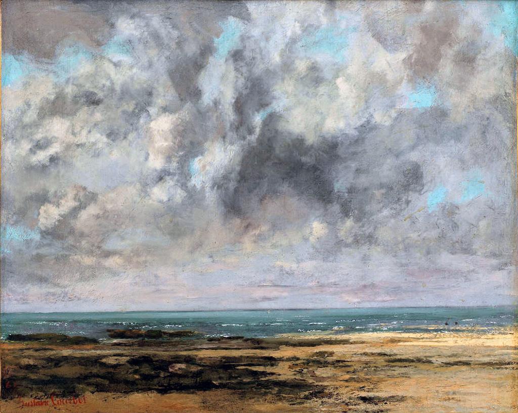 1865 - Gustave Courbet -  The Beach of Saint Aubin
