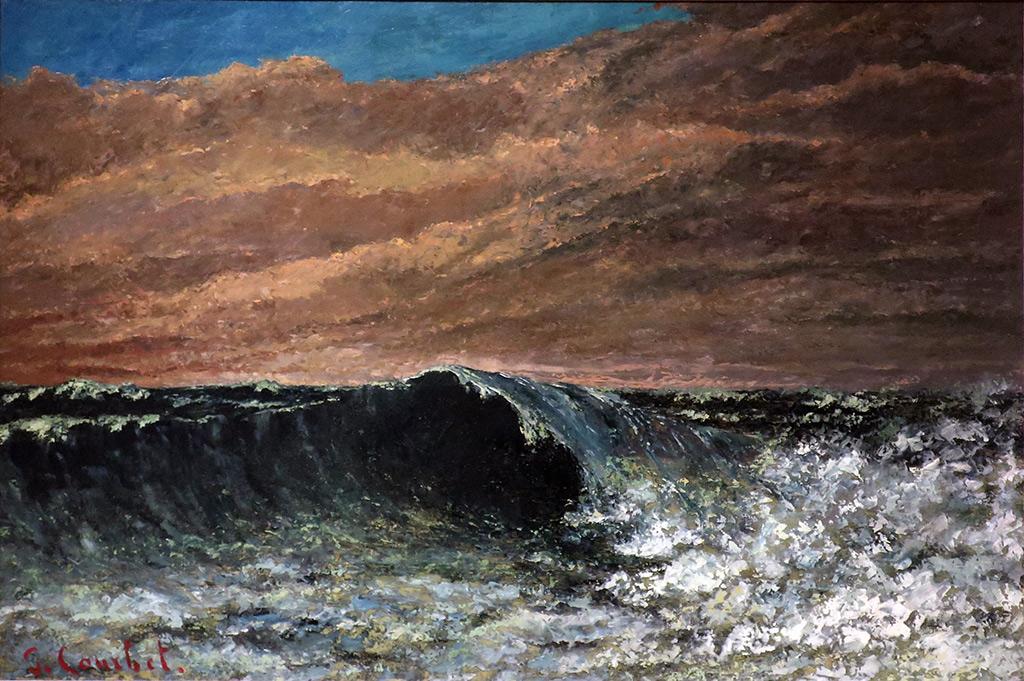 1870 - Gustave Courbet - Beach at Dieppe