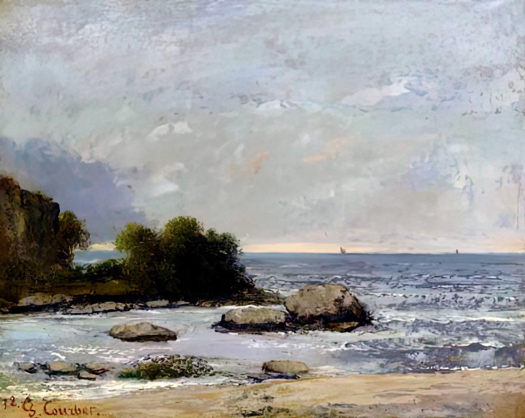 1872 - Gustave Courbet - Seascape of Saint Aubin