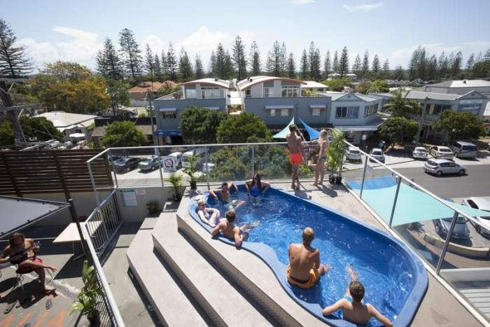 Rooftop pool at the Yamba YHA