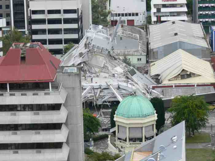 Central City - Aerial (2 Hrs Post Quake) - Cambridge Tce - PGC. Feb 22, 2011.