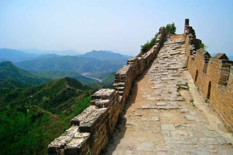 Ruins on the Great Wall of China