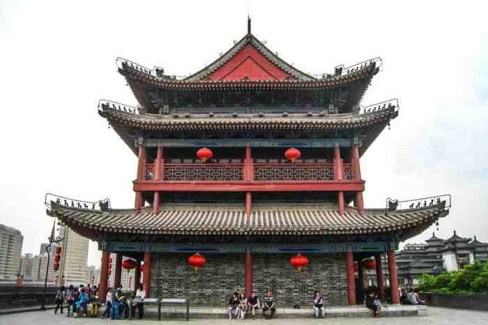 Traditional Chinese architecture in Xi'an, China