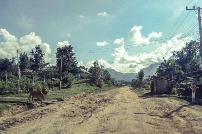 Dirt roads outside of Vang Vieng