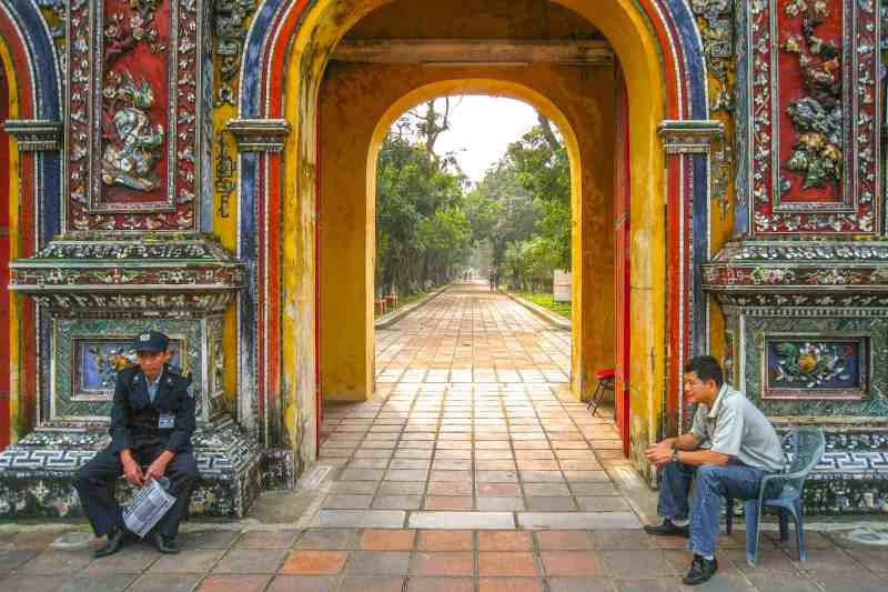 Traveling the world. Imperial City, Hue, Vietnam.