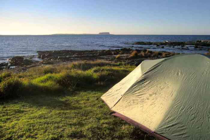 Traveling the world. Camping in Tasmania.