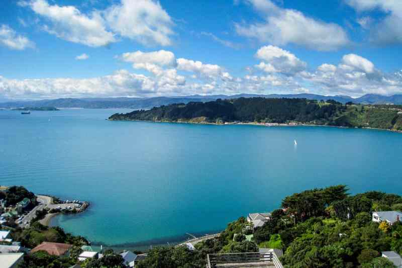 Wellington Harbor in Wellington, NZ