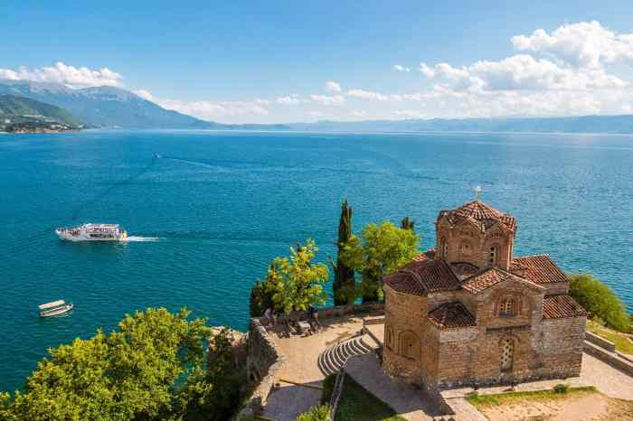 The Church of St. John at Kaneo. Ohrid, Macedonia.