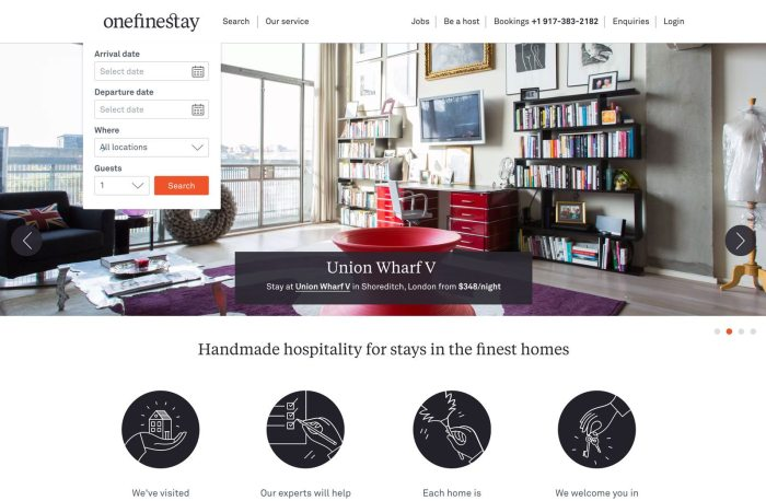 onefinestay is a luxury website like Airbnb