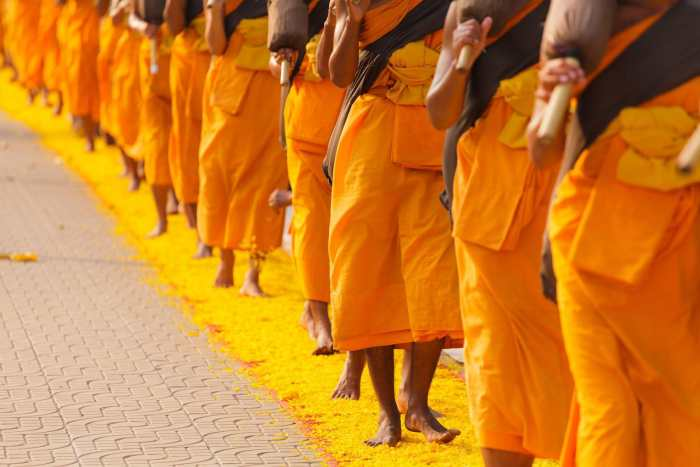 Monks in Bangkok