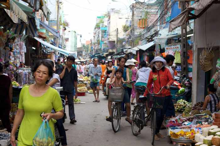 Street markets in Ho Chi Minh