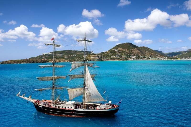 A pirate ship at St. Maarten