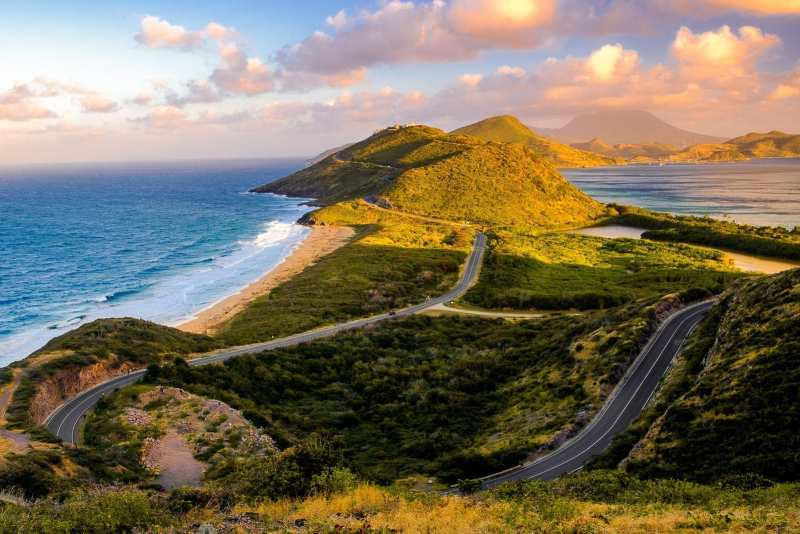 The view from Timothy Hill Overlook, St. Kitts