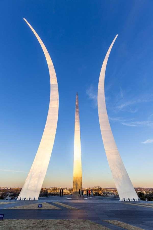 The USAF Memorial in Washington, D.C.