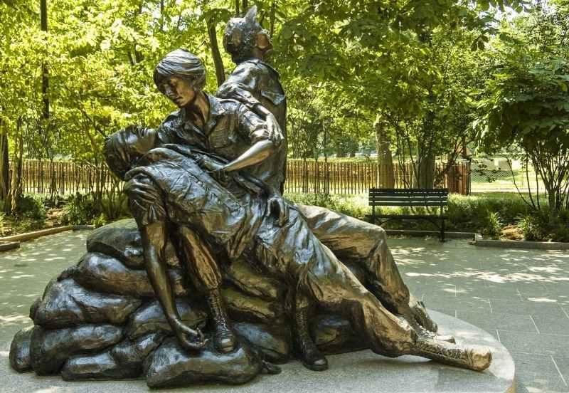 The Vietnam Women's Memorial on a driving tour of Washington, D.C.