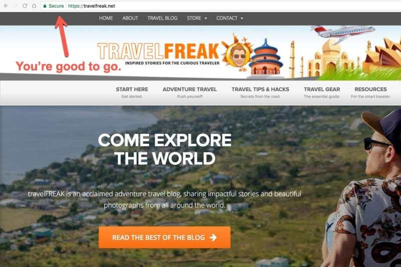 Secure Browsing on travelFREAK