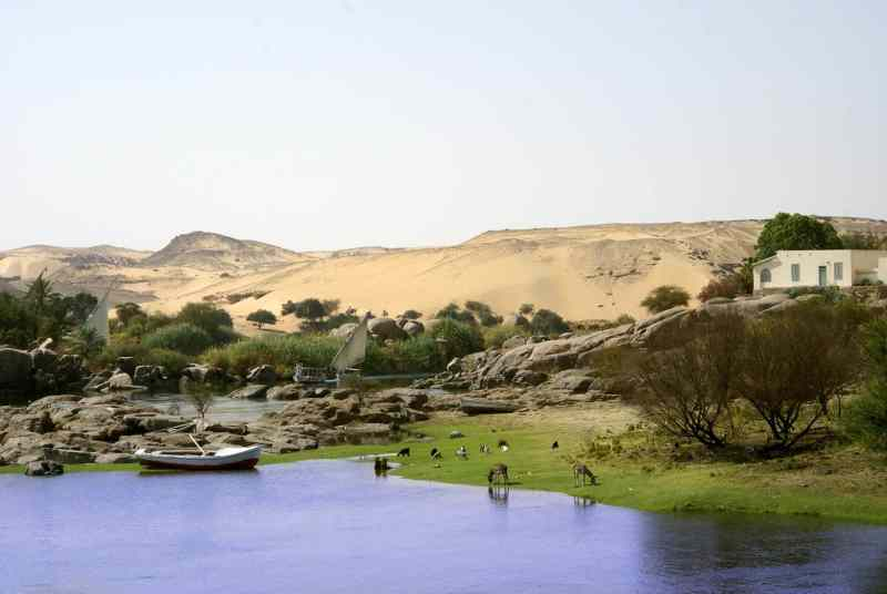 Cruising along the Nile River is stunning!