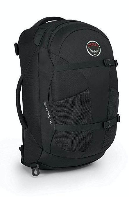 The Osprey Farpoint 40 carry on