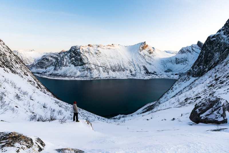 Trekking through Fjords in Senja, Norway