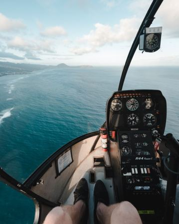 Helicopter view in Oahu