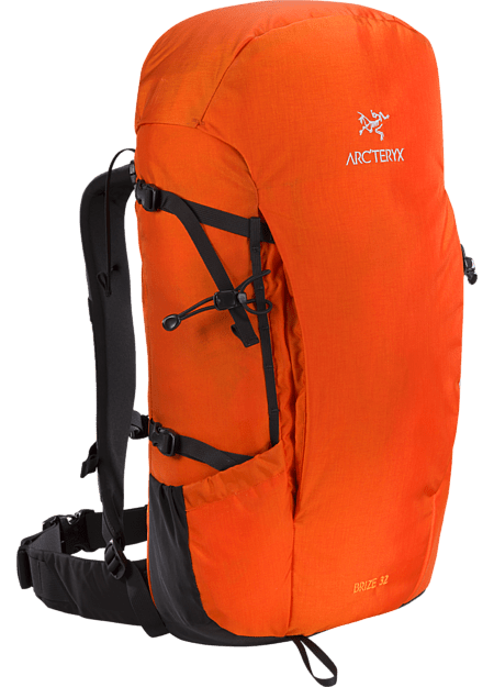 Red Arc'teryx Brize 32L Hiking Pack