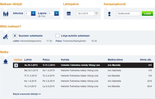 viking line helsinki to stockholm