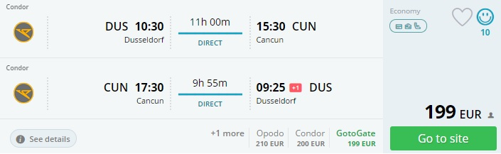 cheap flights from germany to cancun