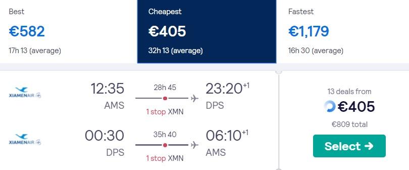 cheap flights amsterdam bali