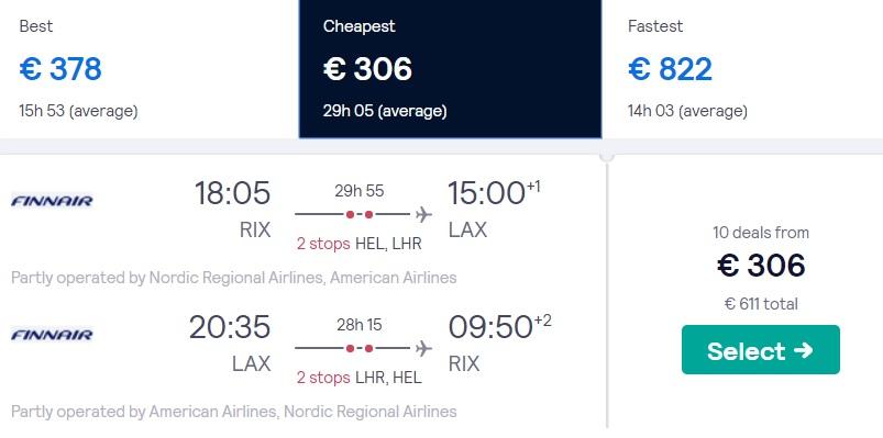 cheap flights riga los angeles