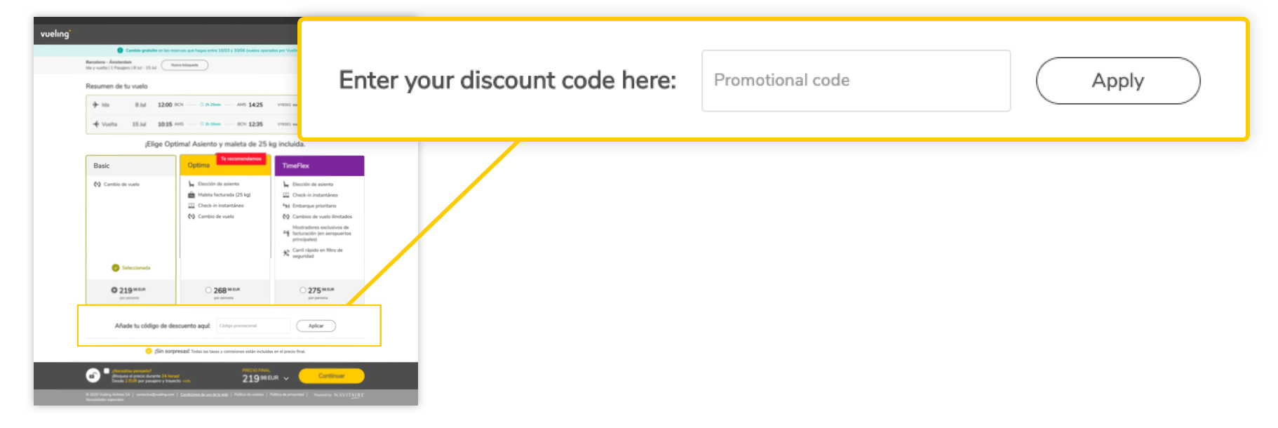 vueling promotion code 2020