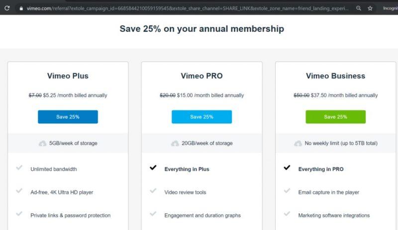vimeo invite code 2021