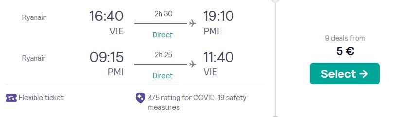 cheap flights vienna mallorca