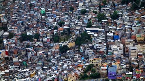 A favella from above, Rio de Janeiro, Brazil