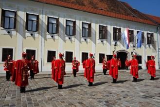 Change of guard, Zagreb