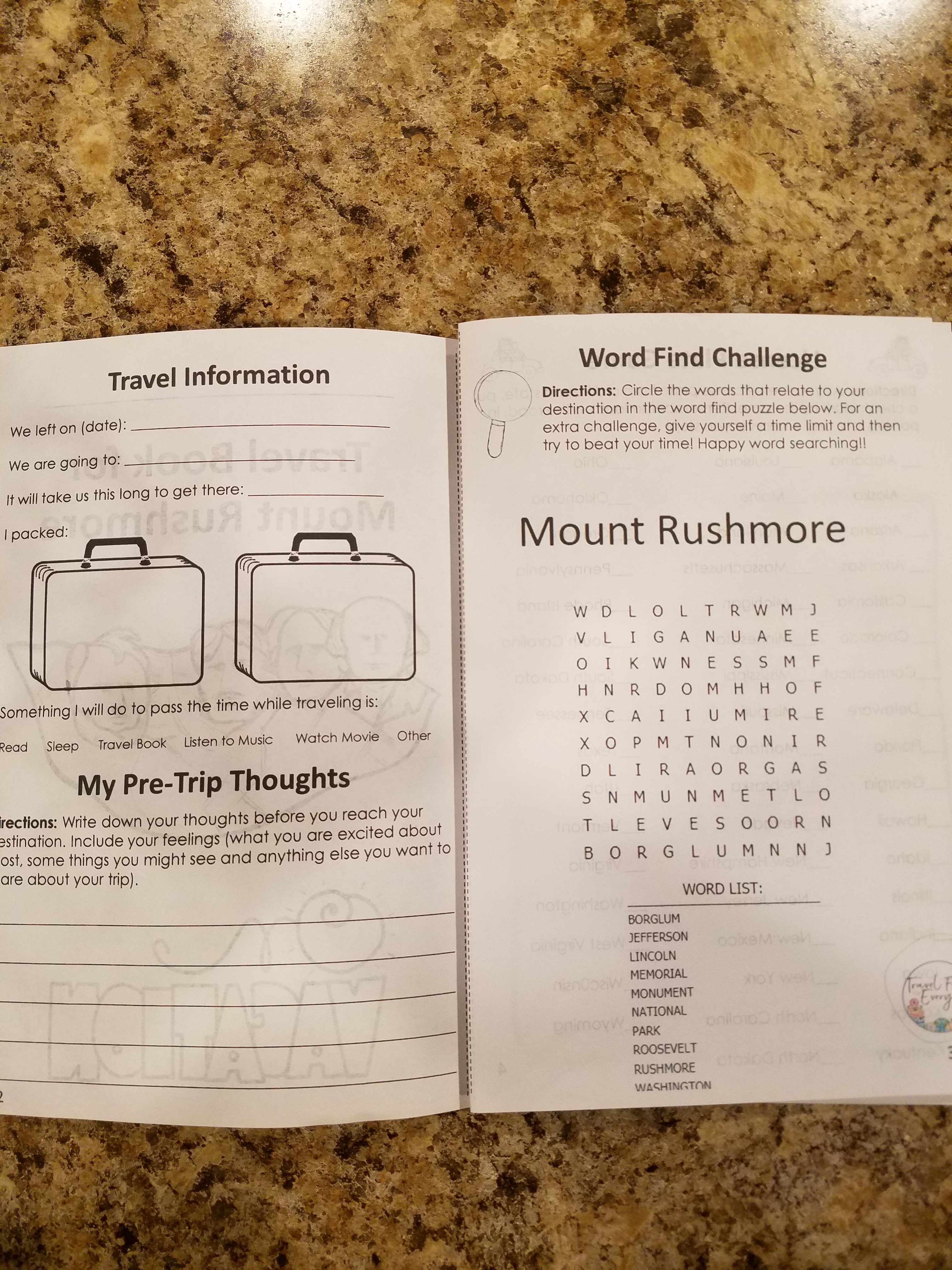 Mount Rushmore Travel Booklet