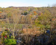 View from the bluff in front of the old Galena (Illinois) High School