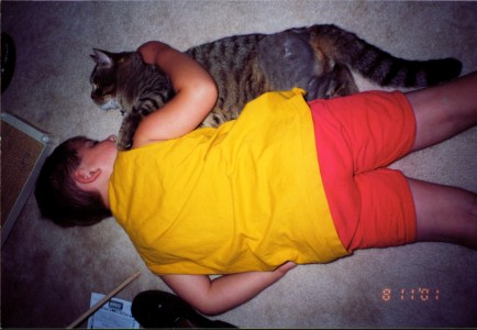 Happy ~ Snuggling with the Cat