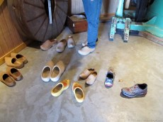 Wooden clogs to try inside the windmill