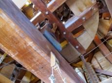 Large gears inside the windmill