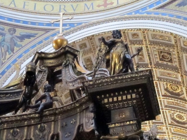Looking up at Bernini's baldachin or canopy