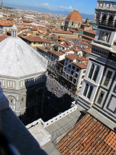 Looking down on the Baptistery