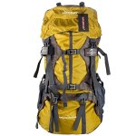 Wasing 55L Hiking Backpack yellow
