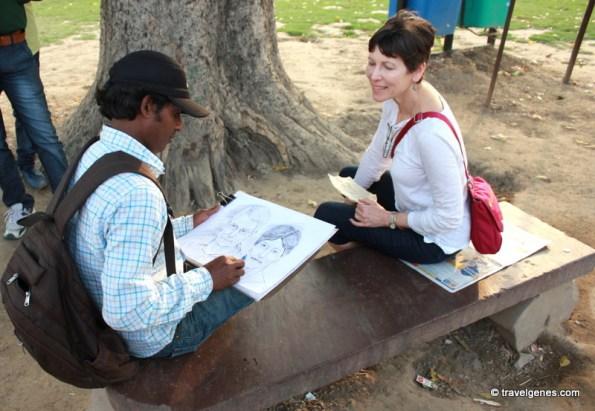 portrait making india travel