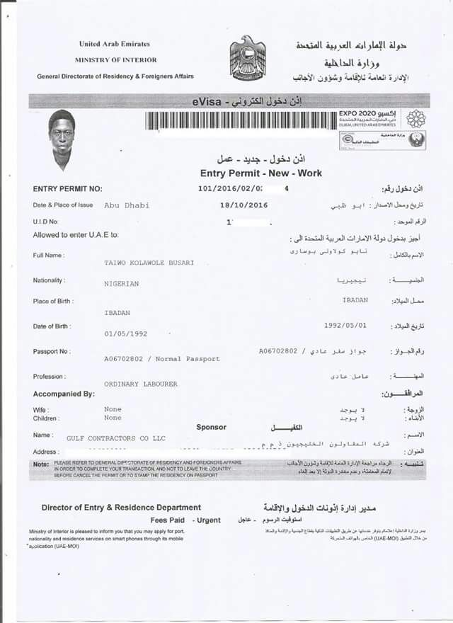 Image result for Dubai Employment Visa