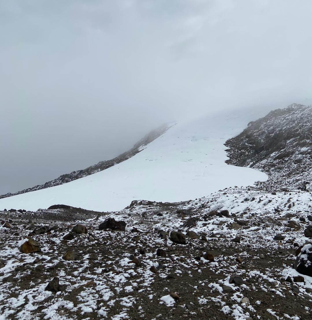 Nevado Santa Isabel cima norte