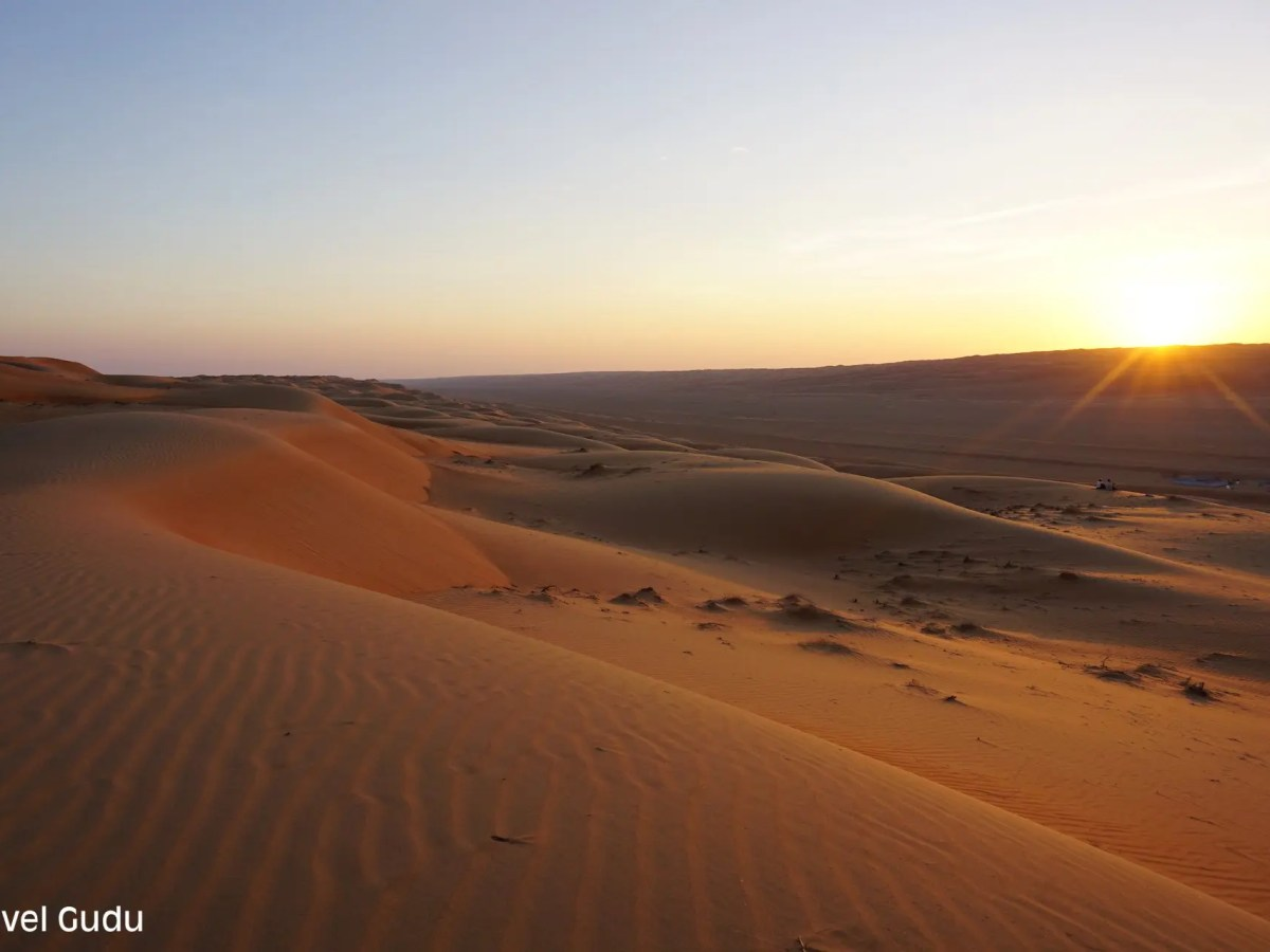 Sharqiya Sands Oman al tramonto