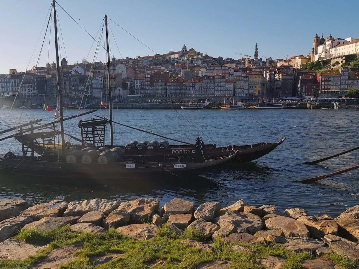 Porto river and boat