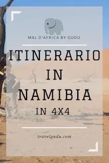 Itinerario in Namibia in fuoristrada