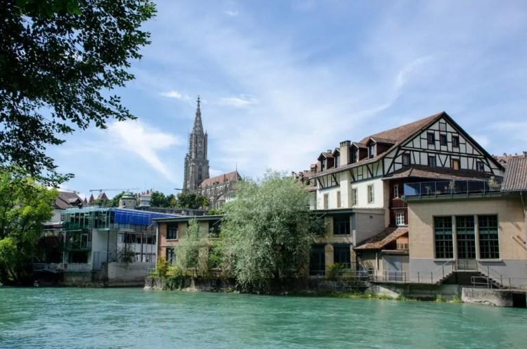 Berna vista dal fiume Aar