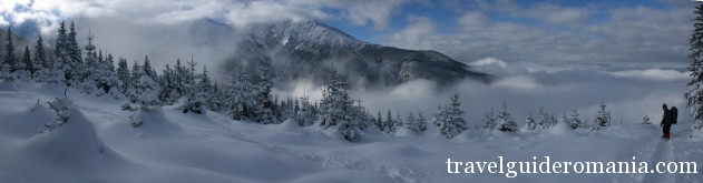 Fagaras mountains in winter - ski touring